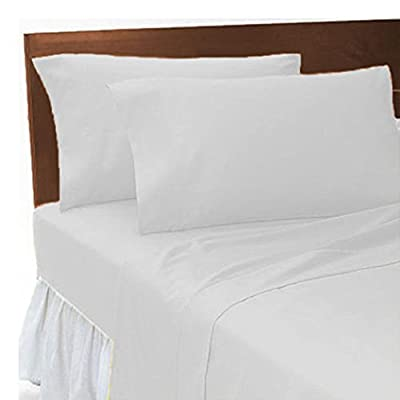 "2ft 6"", Small Single Bed, Bunk Bed Fitted Sheet, White by Maria Luxury Bedding & Linen - low-cost UK light store."
