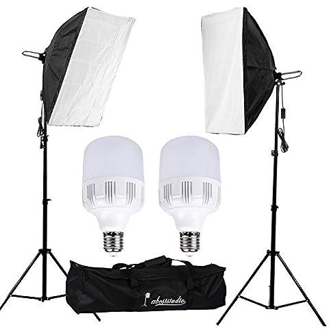 Abeststudio 50W 5500K Softbox kit d'éclairage continu pour studio photo,
