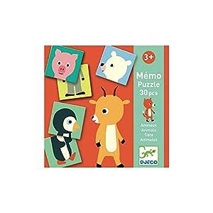 Djeco Educativos Memo Animo-Puzzle (38126), Multicolor (1)