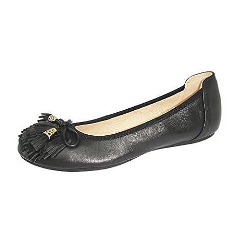 Baideng, Frauen sandalen Schwarz Leder Mode Casual Freizeit Fashion 607-24 Schwarz 38