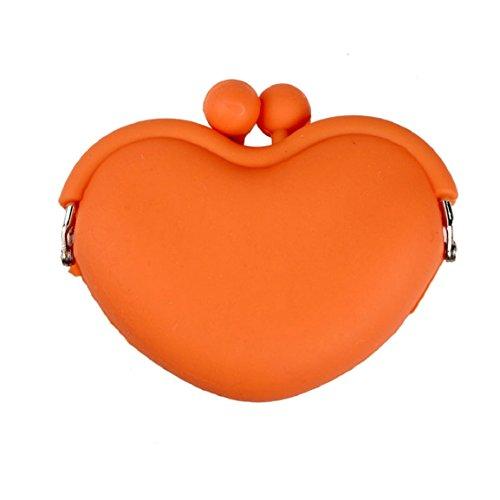Culater® Tasti caramella cuore silicone stoccaggio moneta del sacchetto della scatola caso