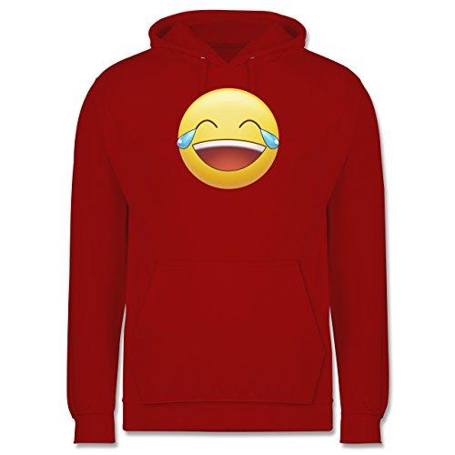 Statement Shirts - Tränen Lachen - Emoji - Männer Premium Kapuzenpullover / Hoodie Rot