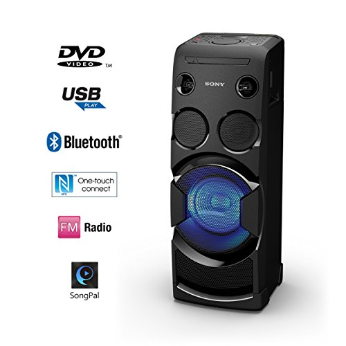buy sony mhc v44d portable personal party system black on amazon. Black Bedroom Furniture Sets. Home Design Ideas