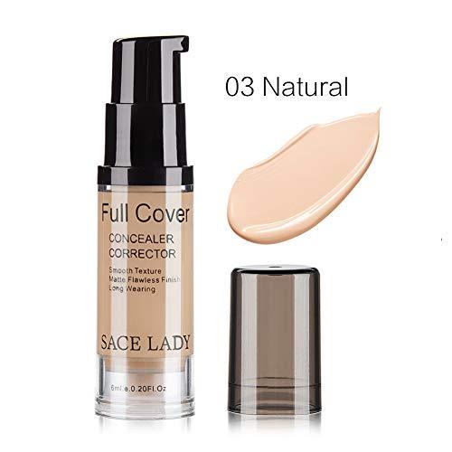 Allbestaye Full Coverage Concealer Corrector 6ml Cover Pimples Freckles Scars Matte Finish Liquid Cream Full Cover