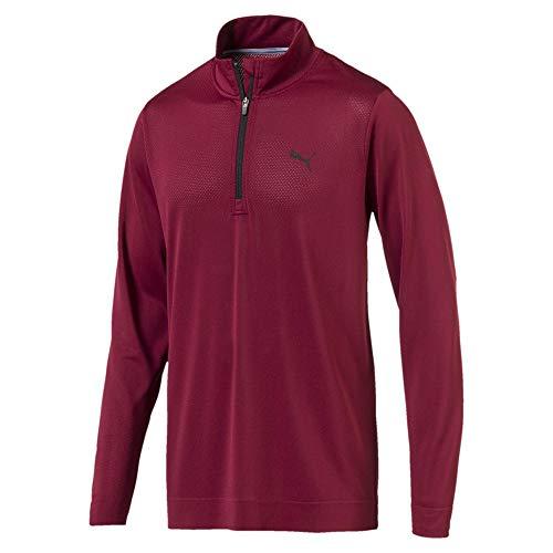 Preisvergleich Produktbild Puma Golf Herren Evoknit Essential 1 / 4 Zip Sweatshirt Pomegranate XL