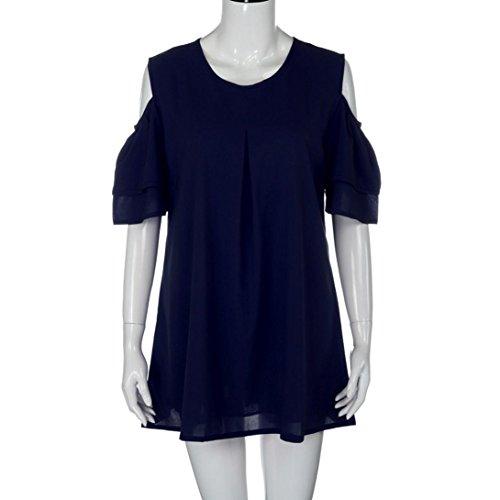 Sommer Amlaiworld damen Chiffon Übergroß kleider elegant locker Plissee Kleid mode Kurz kleidung Für party Schwarz