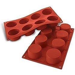 silikomart 20.028.00.0060 Stampi, Silicone, Rosso