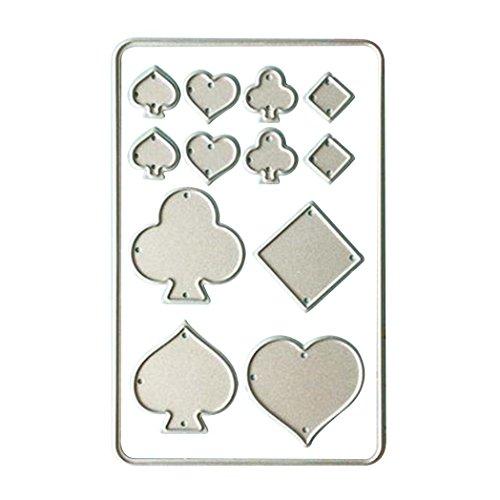 sukisuki DIY Spielkarten Formen Schablonen Scrapbook Prägung Craft Werkzeug, silber, Einheitsgröße (Prägung Silber Scrapbook)