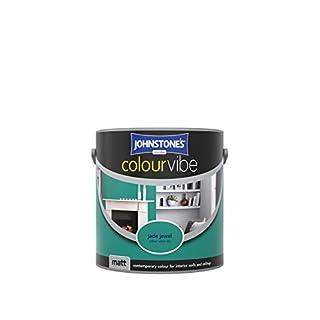 Johnstone's 308445 2.5 Litre Colour Vibe Matt Emulsion Paint - Jade Jewel
