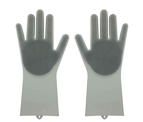 guanti lavapiatti Guanti in silicone riutilizzabile Magic Saksak con lavasciuga (13