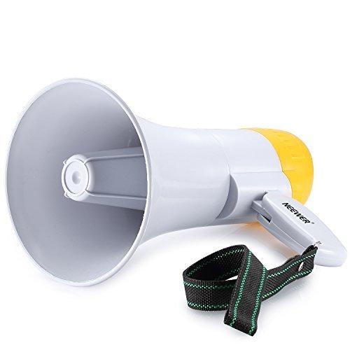 Neewer® tragbare 10Watt Handheld Megaphone/Megafon mit Sirene, Voice Recorder und Handschlaufe (Akku Nicht Enthalten)