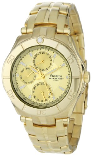 armitron-mens-204224chgp-gold-tone-stainless-steel-multi-function-dress-watch