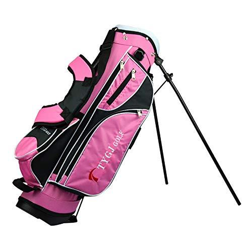 Golf Bag Golfzubehör für Herren und Damen Golfschlägertasche Golfbag Verschleißfeste, rutschfeste Golfstandtasche mit Mehreren funktionellen Fächertaschen Wochenend-Golftasche