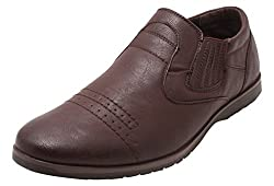 Roadster Mens Brown Leather Loafers - 8 UK