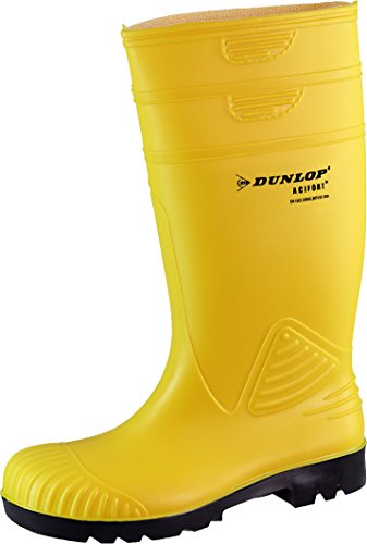 Dunlop Acifort–Stivali, Stivali di gomma, pioggia stivali, lavoro stivali, il tempo libero Gelb