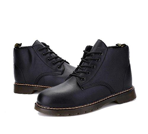 WZGDie neuen Herren-Casual Stiefel rutschfeste Schuhe Masse von Werkzeugen Gezeitenmänner der Art und Weise Martin Stiefel England Black