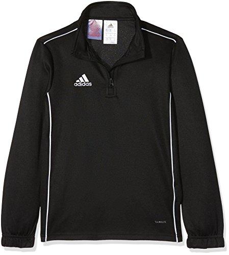 adidas Kinder CORE18 TR Y Sweatshirt CORE18 TR Y CE9028, Schwarz (Black/White), 140 (Herstellergröße: 140) Fußball Sweatshirt