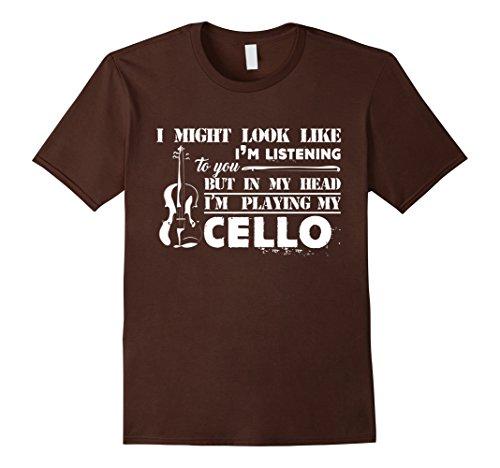 Cello Shirt - I'm Playing My Cello T-shirt Herren, Größe S Braun