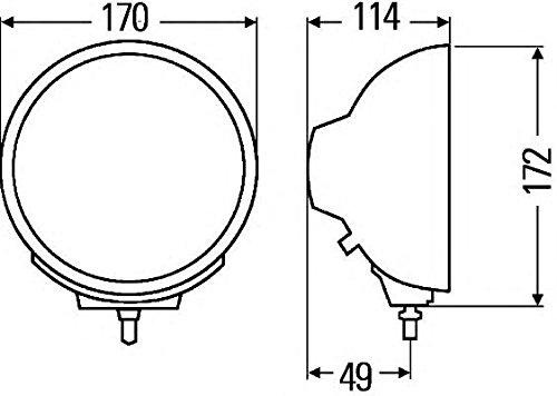 Preisvergleich Produktbild HELLA 1F1 009 094-051 Fernscheinwerfer Luminator Compact Celis, rund, Anbau links/rechts stehend, 12/24 V