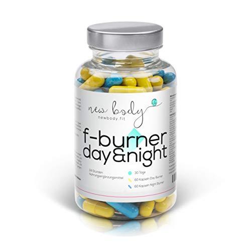 AKTION F-Burner Day&Night - 24 h Fatburner zum Ankurbeln Ihres Fett-Stoffwechsels. Tag und Nacht einzunehmen! 100{ae53525e3204e993c6489d3386e1579797e1ff7b2d66caea2eff0b5aee56b8cc} natürlich Fett verbrennen, hochdosiert und effizient. Auch zusätzlich zu jeder Diät.