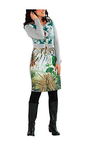 Kleid, grün-silbergrau von Sheego Grösse 58