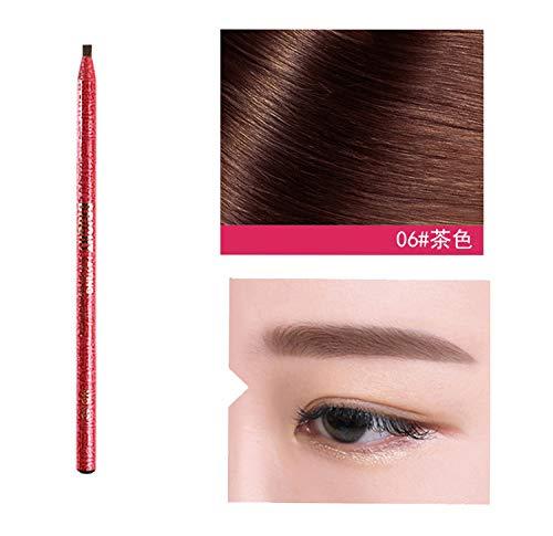 LHWY Maquillage cosmétique de poudre de fard à paupières mat Crayon de stylo de sourcil brun noir de sourcil imperméable avec le maquillage de brosse cosmétique