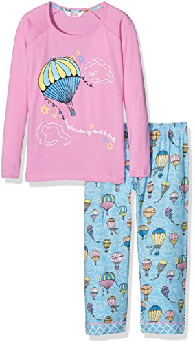 Cyberjammies UP and Away, Pijama para Niños, Mehrfarbig (Pink Mix), 10 Años