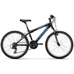 "Conor 440 24"" Bicicleta Ciclismo Unisex Infantil, Juventud, Negro/Azul, Talla Única"