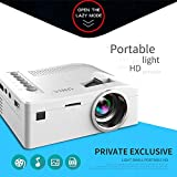 BEESCLOVER HD 1080P TFT LCD Home Mini Projector TV Multi-Media Player Theater Home