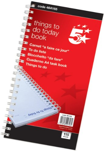 5-star-office-things-to-do-today-book-wirebound-6-months-115-pages-280x140mm