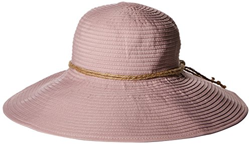 san-diego-hat-company-womens-rbl4785-large-ribbon-brim-hat-with-twince-knot-trim-blush-hat-one-size