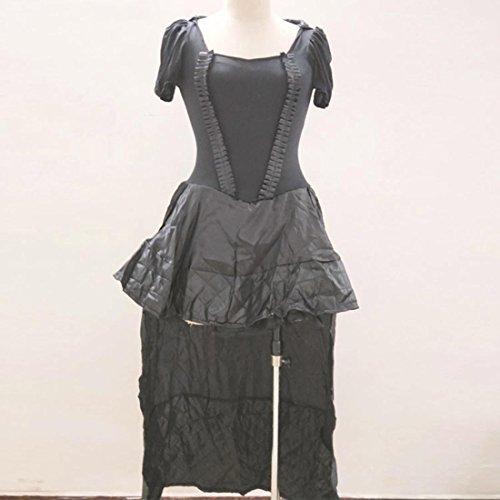 DuuoZy Damen Black Corset Long Dress Adult Spiel Anime Kostüm , black , (Alter Mann Uk Kostüm)