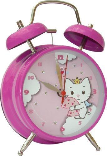 Preisvergleich Produktbild Kinderwecker - Wecker Angel Cat Suger 2 verschiedene Motive Katze *10 cm Groß (Motiv 2 m. Kissen)