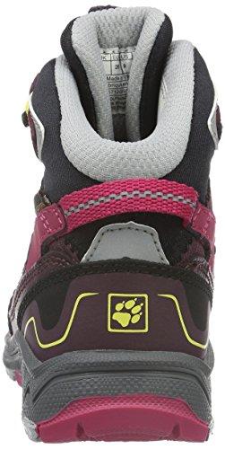 Jack Wolfskin Crosswind Wt Texapore Mid K, Chaussures de Randonnée Hautes Mixte Enfant Rouge (Dark Berry 2009)