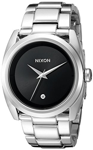 Nixon Women's A935000 Queenpin Analog Display Japanese Quartz Silver Watch