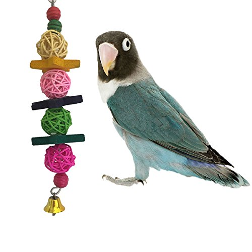 Colorful Balls Toy for Bird Parrot Macaw African Greys Budgies Parakeet Cockatiels Conure Lovebird Cage Bite Toy