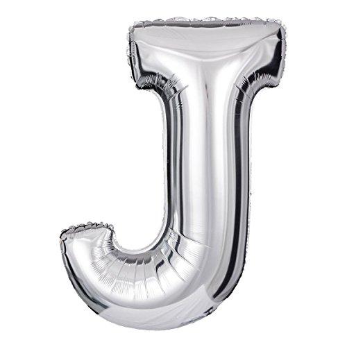 ballonfritz® Ballon Buchstabe J in SILBER - XXL 40