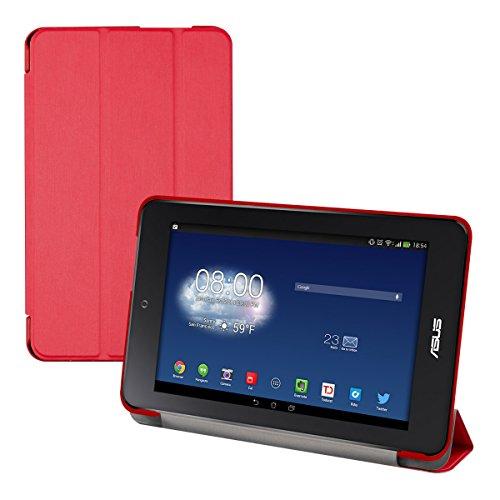 kwmobile Funda para ASUS Memo Pad HD 7   Smart Cover de Cuero sintético para Tablet   Case Ultra Delgada para Tableta en Rojo