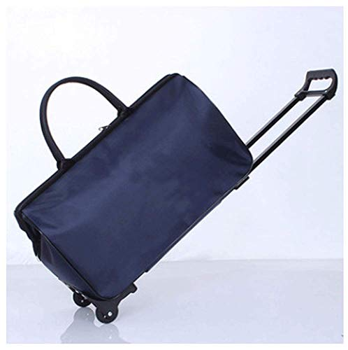 ywj Große Kapazität wasserdichte Klapp Oxford Bracket Pack Koreanische Version Von Männern Und Frauen Reisetasche Gepäcktasche Boarding Bag,B