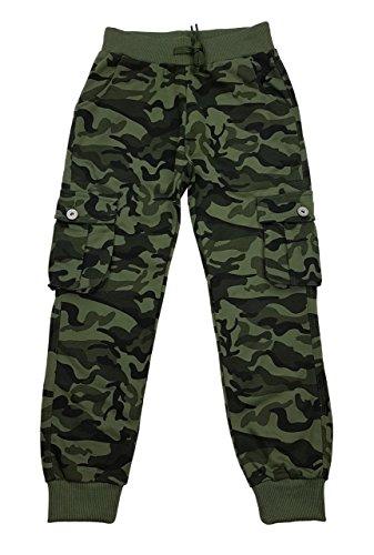 Jogginghose Grün Jungen (Bequeme Jungen Tarn Hose, Freizeithose, in grün camouflage Gr. 164, J6096.16)