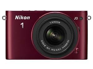 Nikon 1 J3 Kit Compact numérique hybride 14,2 Mpix + Optique 10-30 mm Rouge grenat