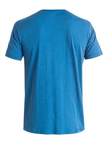 Quiksilver Herren Slub Scriptville T-Shirt Federal Blue
