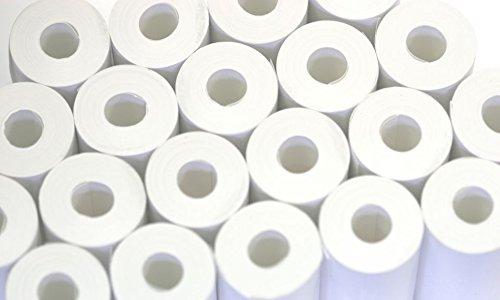 Retail guru 57x 25mm rotoli di carta termica coreless pos eposgear vx675rotoli, confezione da 20