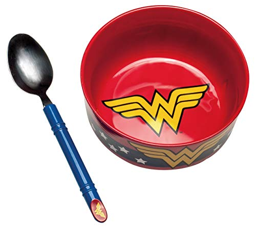 Dc comics wonder woman set colazione, ceramica, multicolore, 7 x 14 x 14 cm