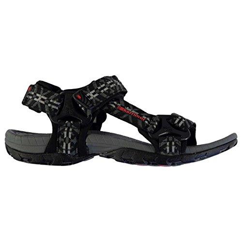 Karrimor Amazon Herren Sandalen Sommer Trekking Wanderschuhe Outdoor Schuhe Black/Charcoal 7 (41) (Lässige Robuste Sandale)