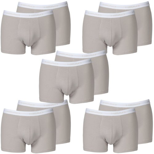 HEAD Men Boxershort 841001001 Basic Boxer 10er Pack grey (400)