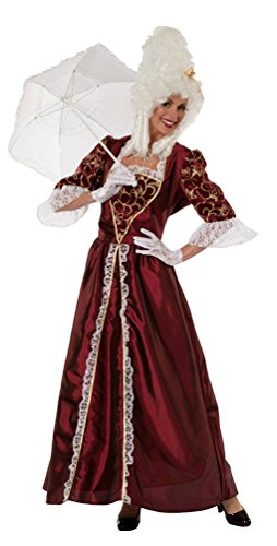 Karneval-Klamotten Viktorianisches Damen-Kostüm Bordeaux Barock Kostüm Damen Renaissance Marquise Damen-Kostüm Größe 40