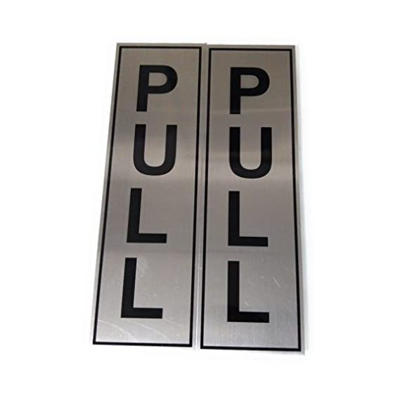 90 Degree Pure Stainless Steel Pull Pull Sign,Message Board for Door in Home Office