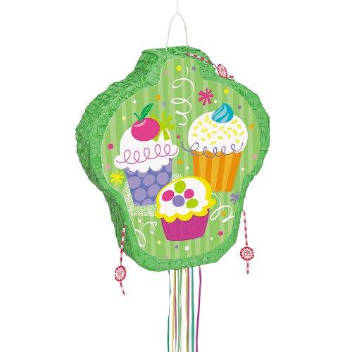 Cupcake Party Piñata, mit Zugband
