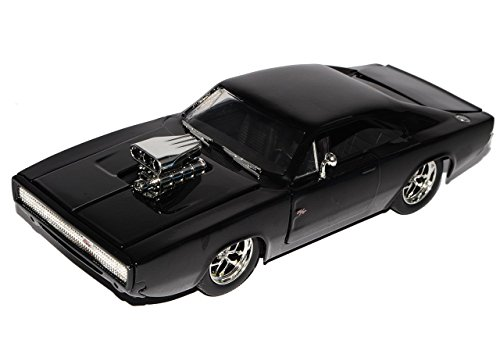 Preisvergleich Produktbild Dodge Charger R/T Dom´s Muscle Cars Coupe Schwarz Fast and Furious 7 1970 1/24 Jada Modell Auto